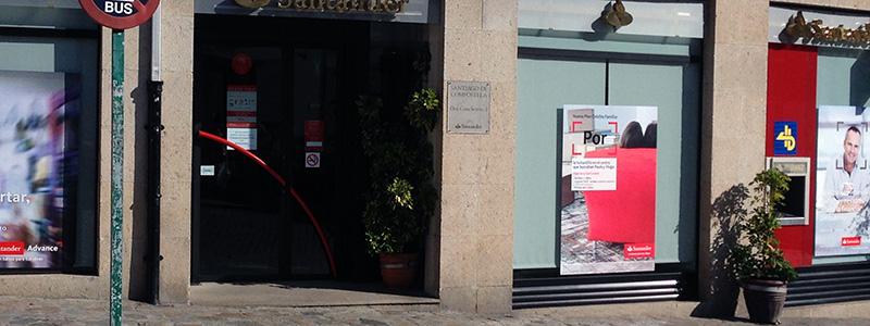 Banco de Santander concheiros Santiago de CompostelaDes